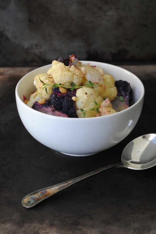 Roasted-Cauliflower-with-Thyme-and-Pine-Nuts